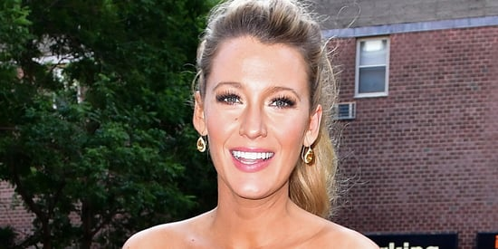 Pregnant Blake Lively Is A Babe In This Royal Blue Bodycon Dress