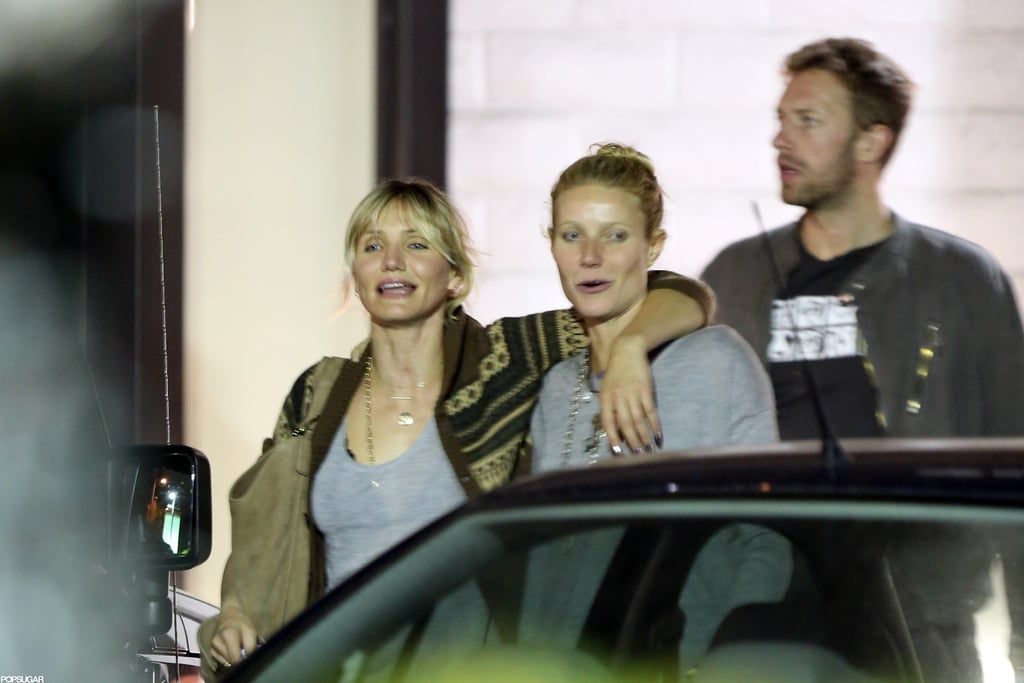 In October 2012, Chris Martin and Gwyneth Paltrow went to dinner in LA with pal Cameron Diaz.