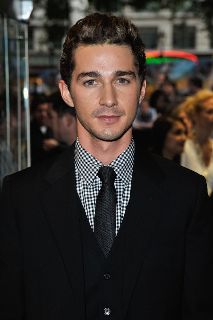 Shia hit the red carpet looking totally handsome at the UK premiere of Transformers: Revenge of the Fallen in June 2009.