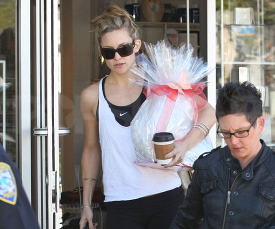 Slide Photo of Kate Hudson with Gift Basket in LA