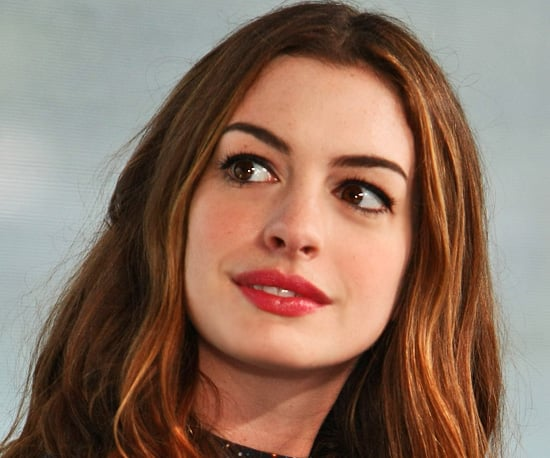Anne Hathaway's Lovely Lipstick From This Morning