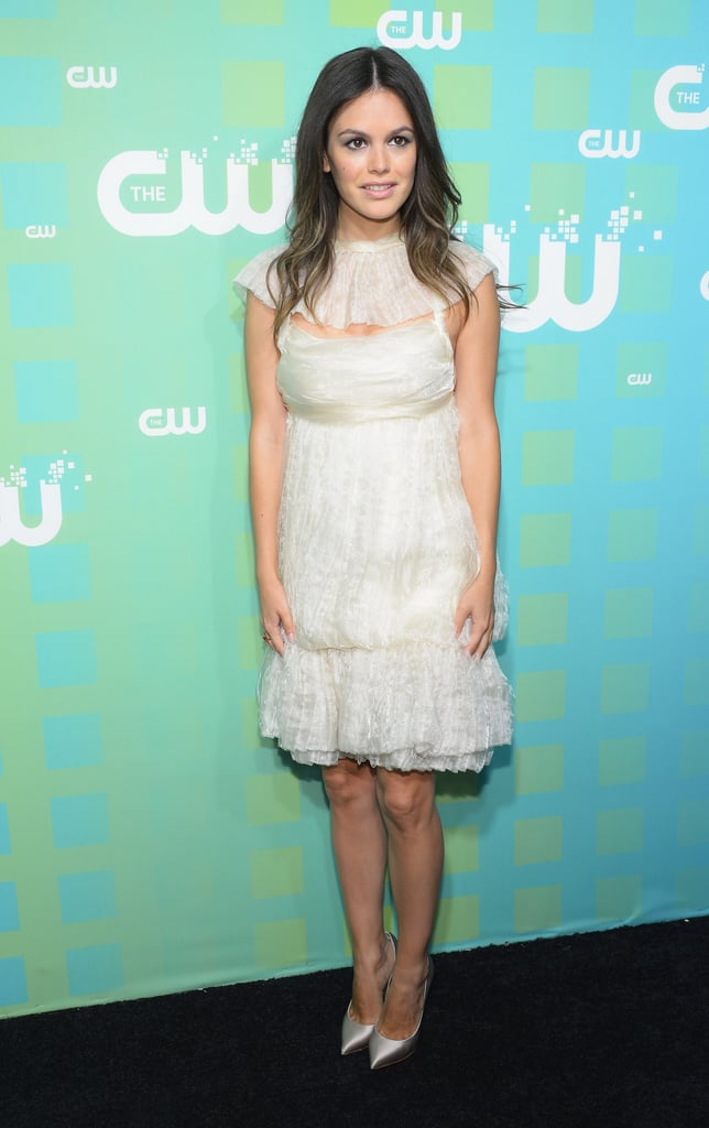 Rachel Bilson arrived at the CW Upfront in NYC.