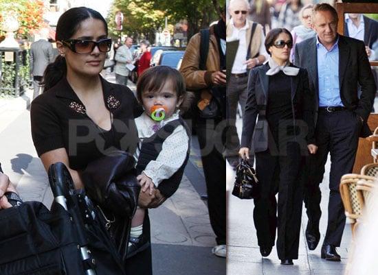 Salma, Francois and Valentina Makes Three in Paris