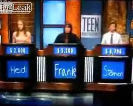 Teens Says F-Word on Jeopardy!