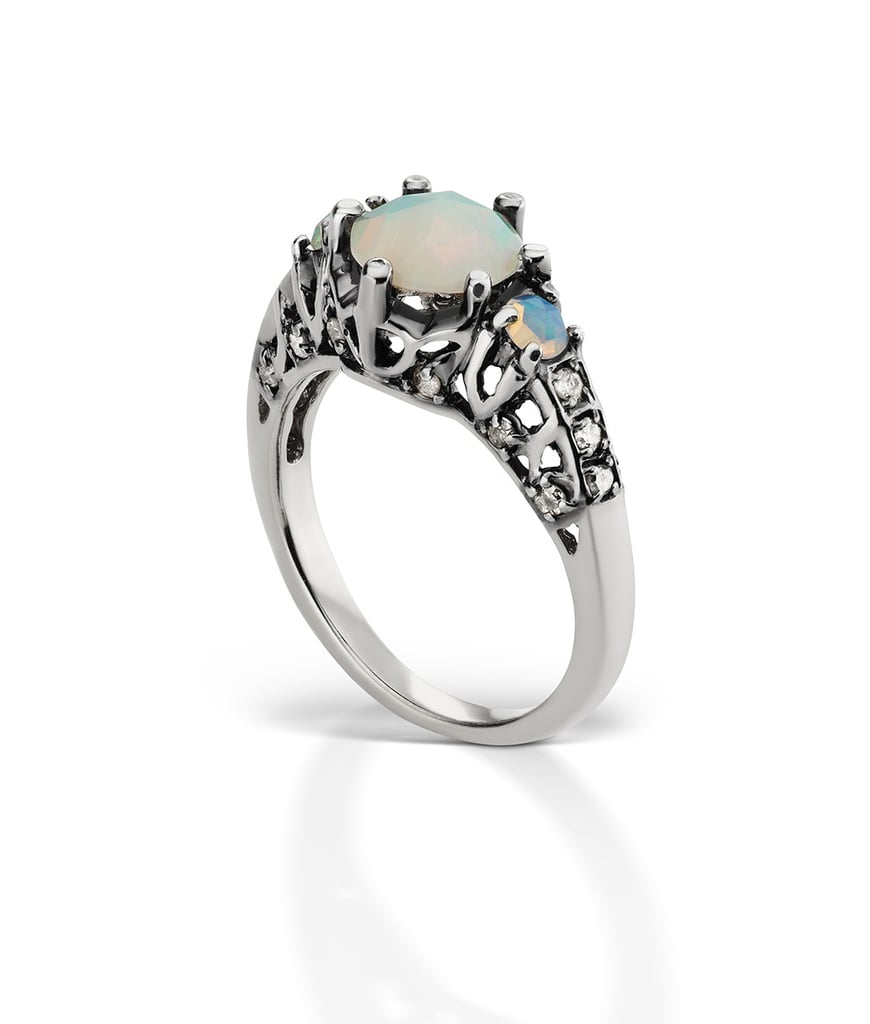 Opal and Moonstone Engagement Rings