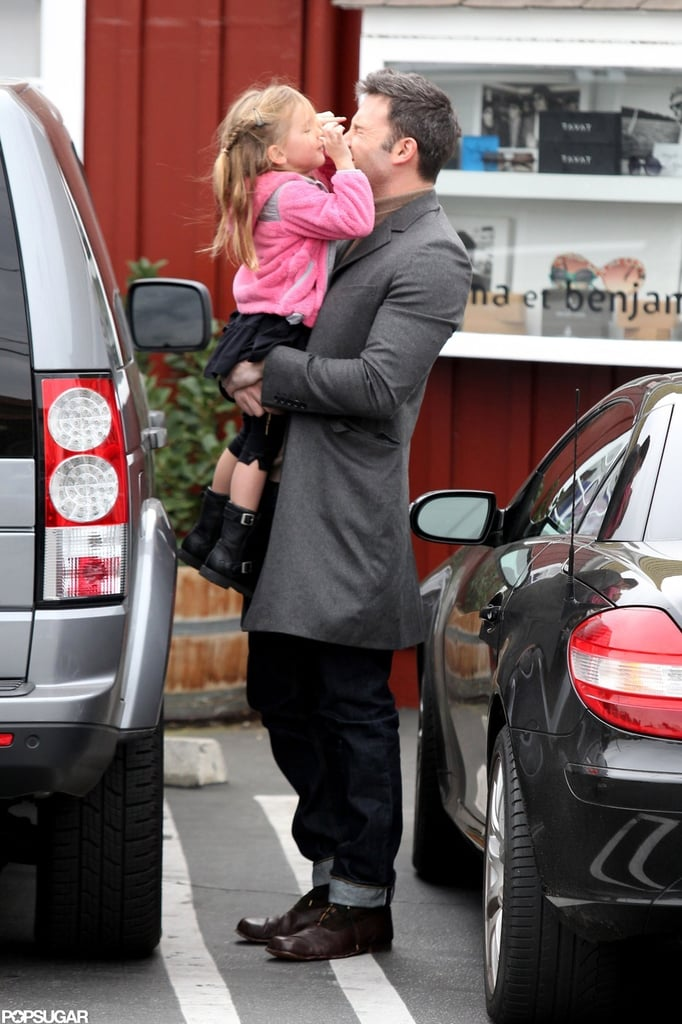 Ben Affleck had a loving breakfast date with Seraphina Affleck.