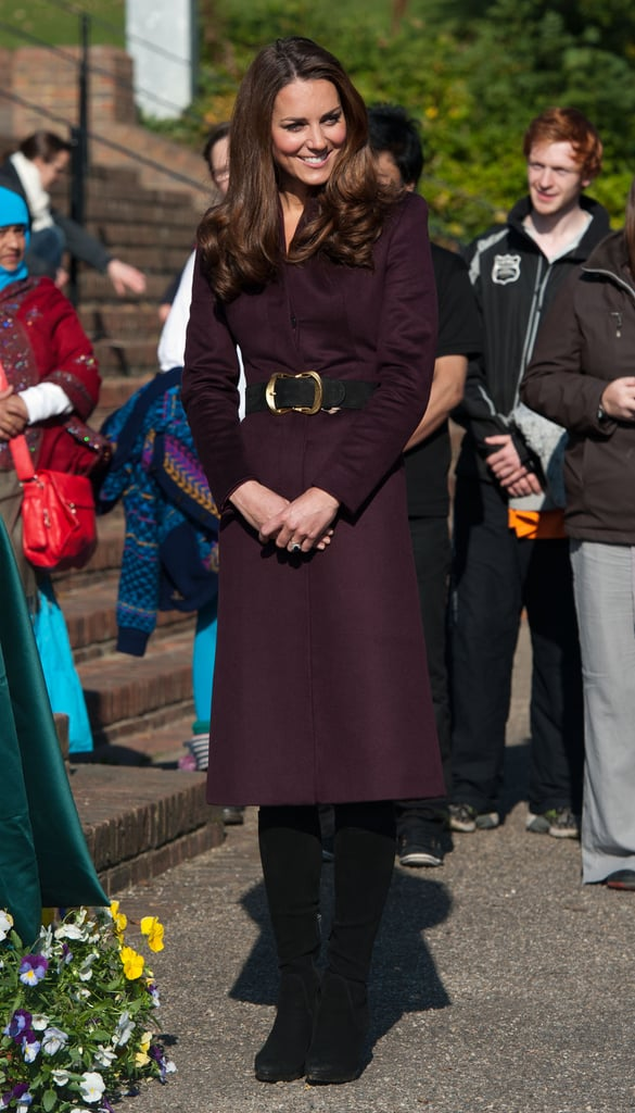 Kate Middleton arrived to tour a community garden in Newcastle upon Tyne.