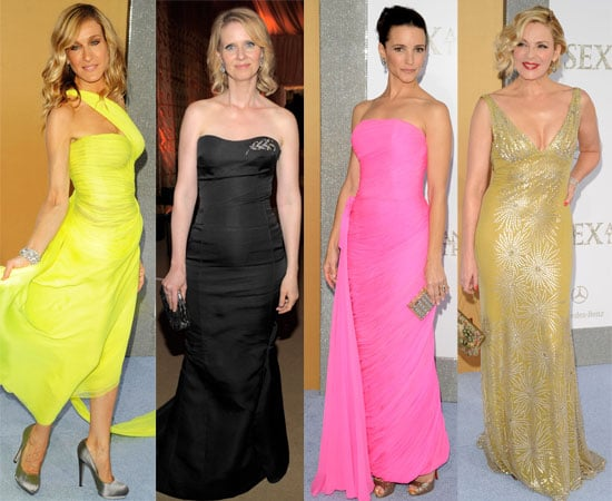 Pictures of Sarah Jessica Parker, Kim Cattrall And Kristin Davis at The Sex And The City 2 Premiere in NYC, John Corbett