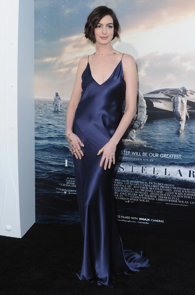 The Interstellar actress slipped into a slinky Richard Nicoll slip dress for the 2014 premiere in Hollywood.