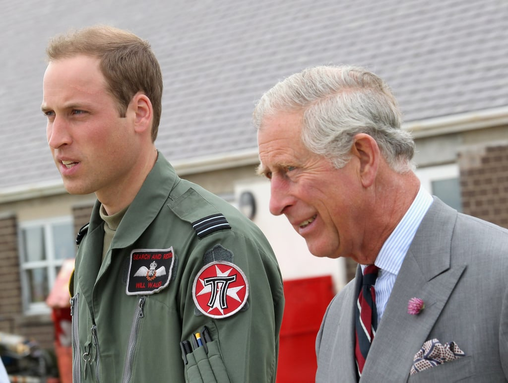 Prince William and Prince Charles toured around the base together.