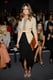 We spotted the style setter working a simple draped maxi skirt and a khaki blazer, cinched at the waist and finished with a pair of sexy albeit minimalist ankle-strap heels, in Rachel Zoe's front row. 8762011