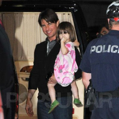 Tom Cruise and Suri Cruise in LA