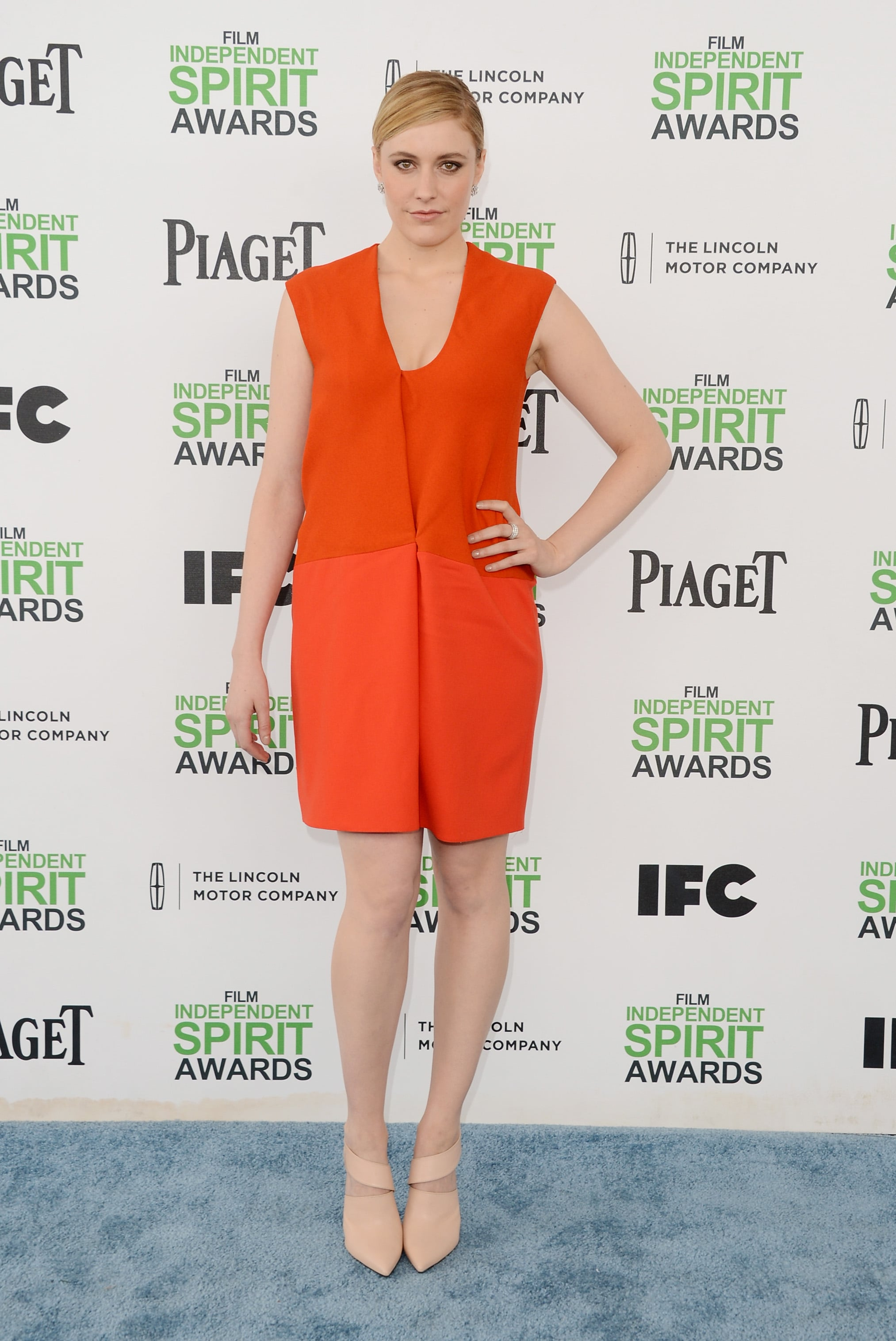 Greta Gerwig at the 2014 Spirit Awards