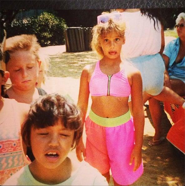 Jessica Alba's hot-pink looks didn't always have so much style! Source: Instagram user jessicaalba