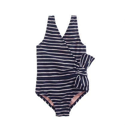 For Little and Big Girls: J.Crew Side Bow Tank in Rope Stripe