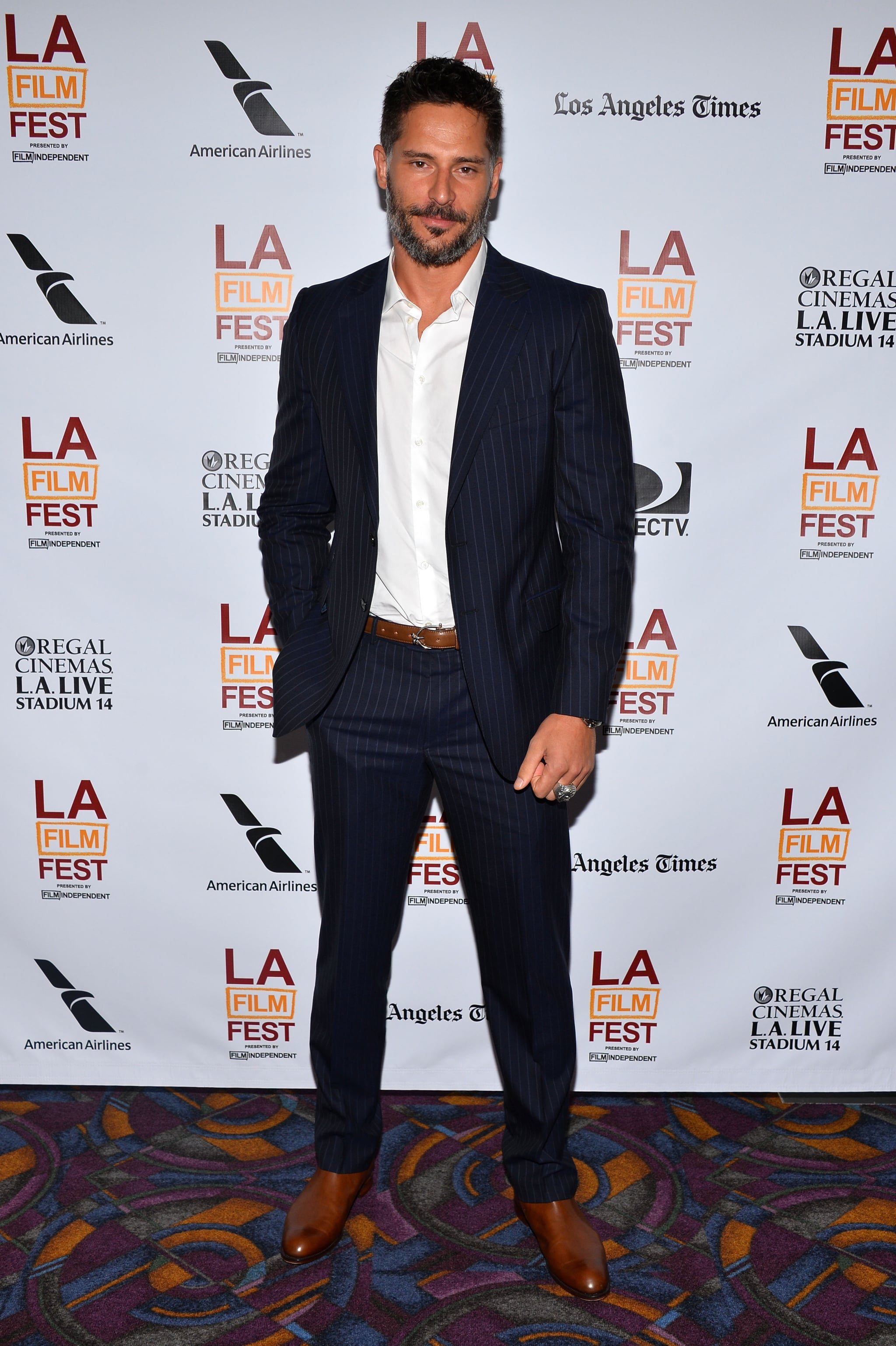 Joe Manganiello suited up for an event.