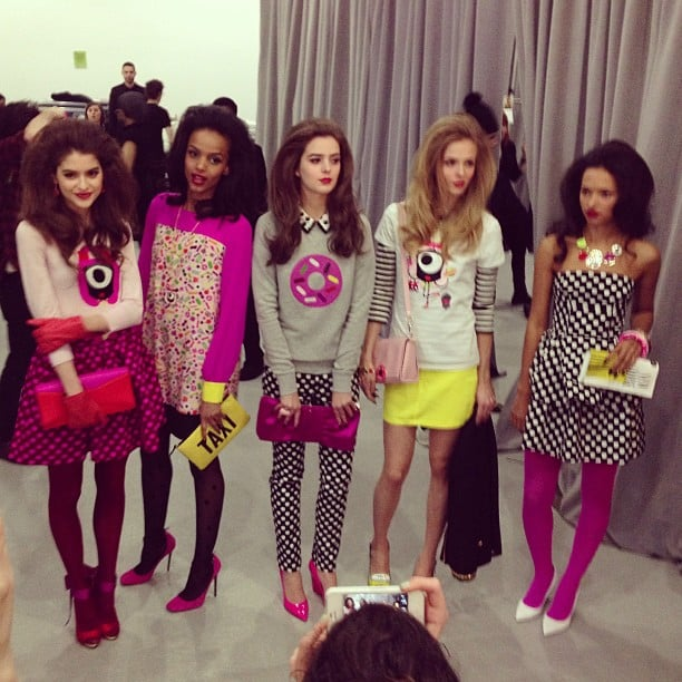 Our first look at Kate Spade was filled with graphic pops of bright color.