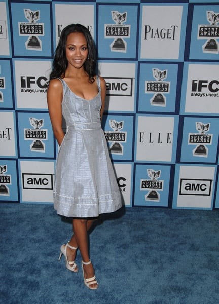 Zoe wore a sweet ice-blue dress at the Independent Spirit Awards in '08.