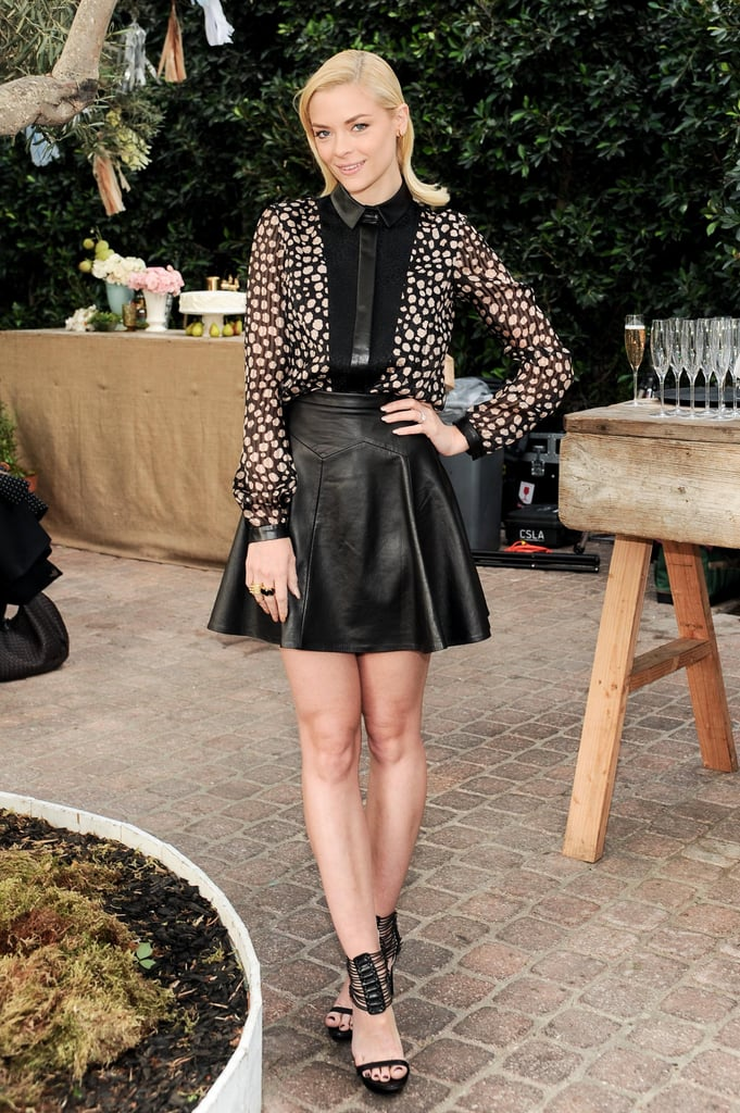 Jaime King posed for pictures.