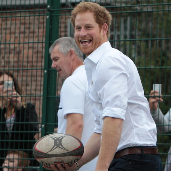 Prince Harry Visits RFU Community Rugby Programme June 2016