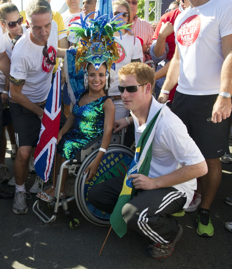 Prince Harry Takes Brazil by Storm —With Masks of His Older Brother, William!