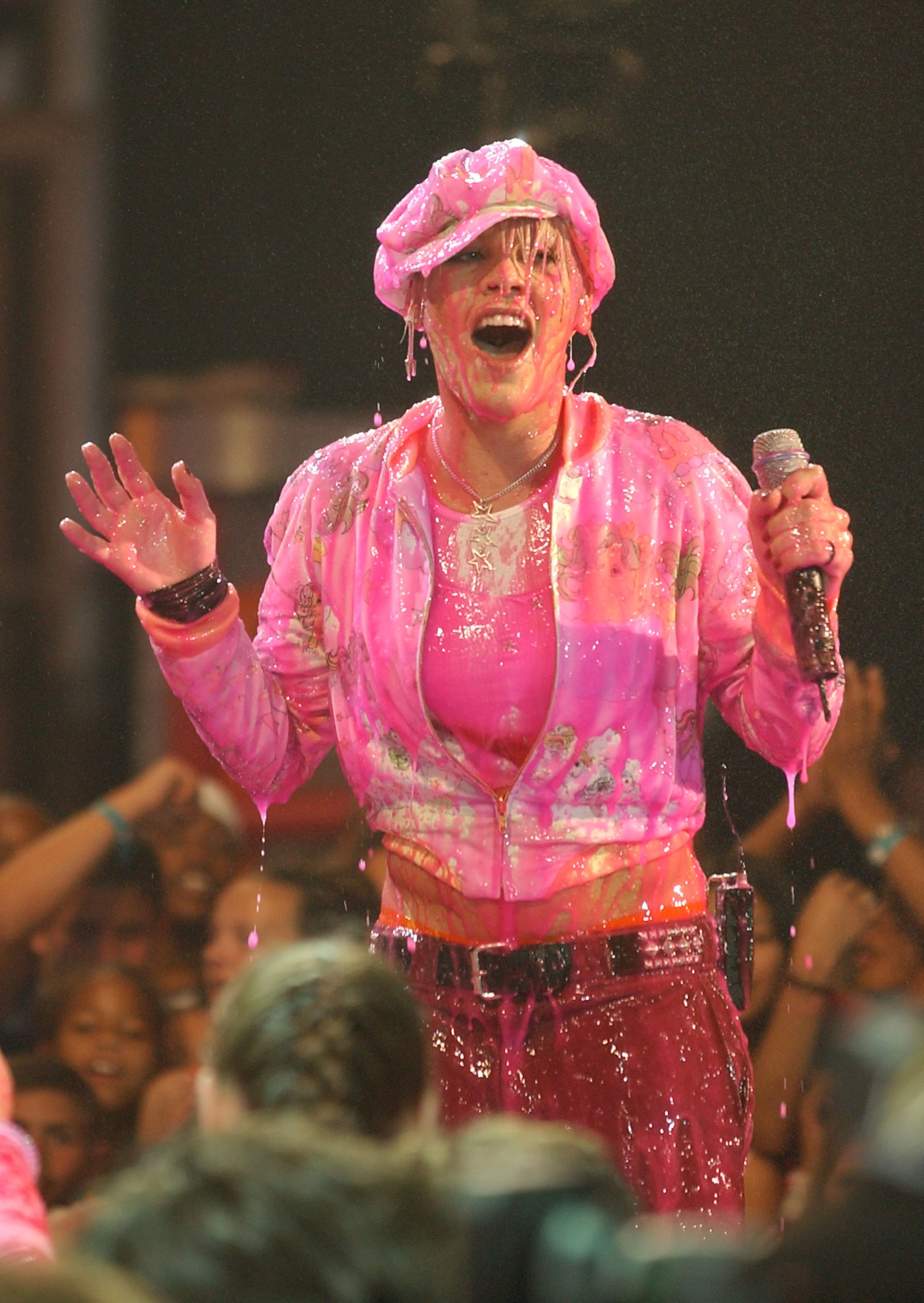 Pink got some surprise pink slime in 2002.