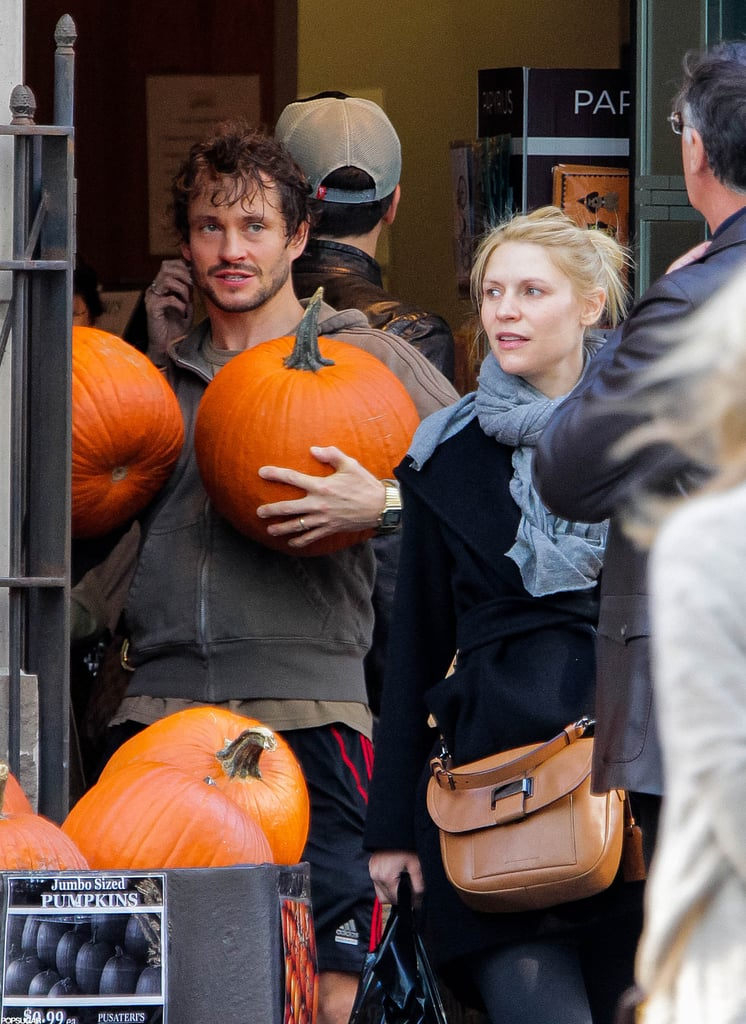 Claire Danes and Hugh Dancy shopped for pumpkins together in Toronto.