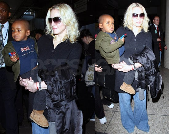 Madonna in Los Angeles With David Banda