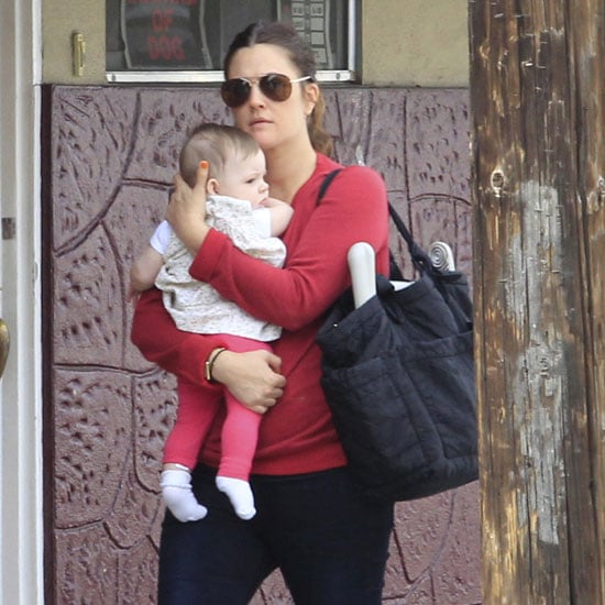 Drew Barrymore Goes to Brunch With Daughter Olive