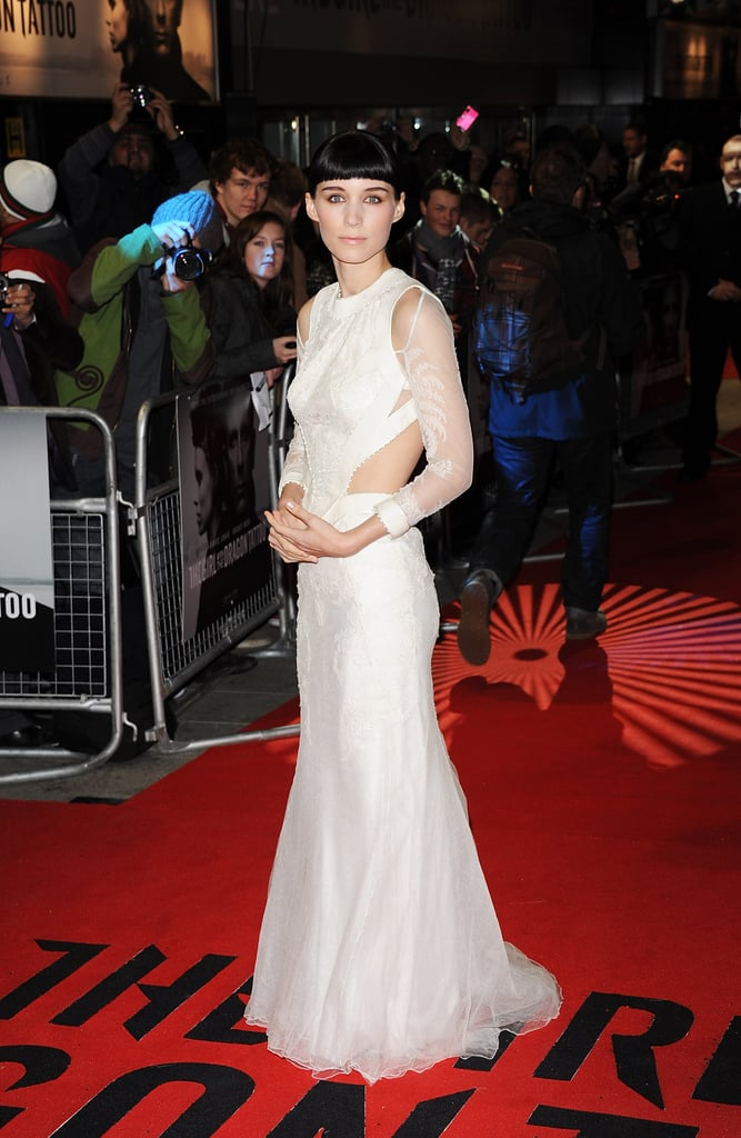Rooney Mara Poses in a Sexy Cutout Gown With Daniel Craig at Dragon Tattoo's London Premiere