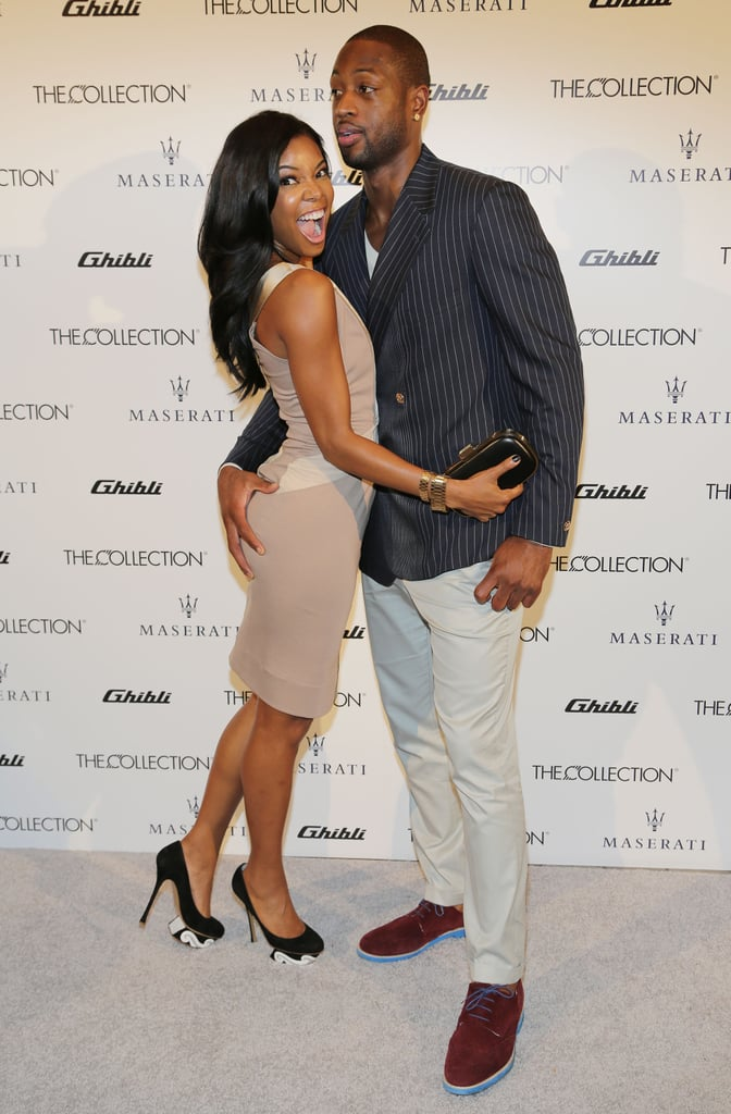 In November 2013, Dwyane got a handful of Gabrielle as they posed together at a Maserati event in Miami.