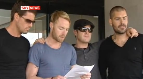 Full Video of Ronan Keating Speaking To The Press on Behalf of Boyzone as They Prepare to Accompany Stephen Gately's Coffin Home