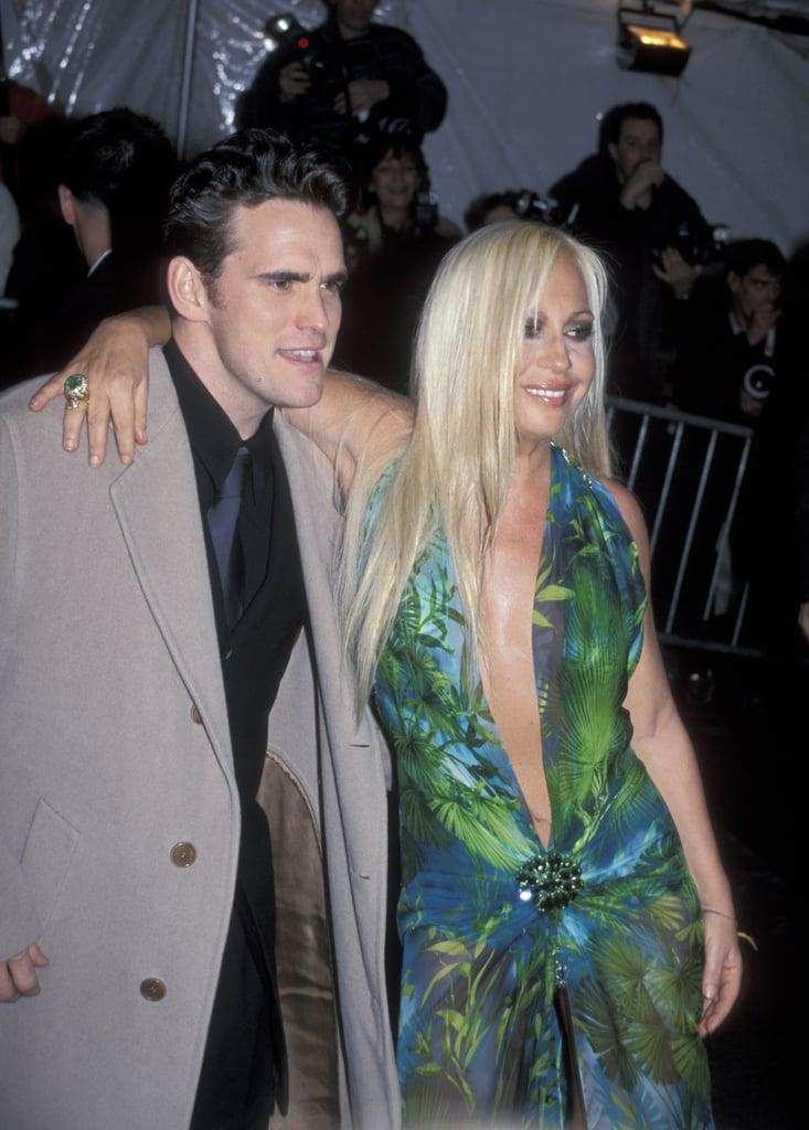 Matt Dillon and Donatella Versace — 1999