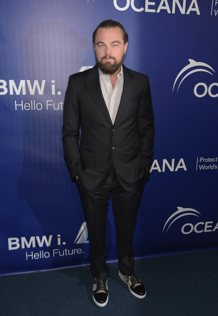 Leonardo DiCaprio had a serious beard when he popped up at Oceana's Annual SeaChange Summer Party on Saturday.