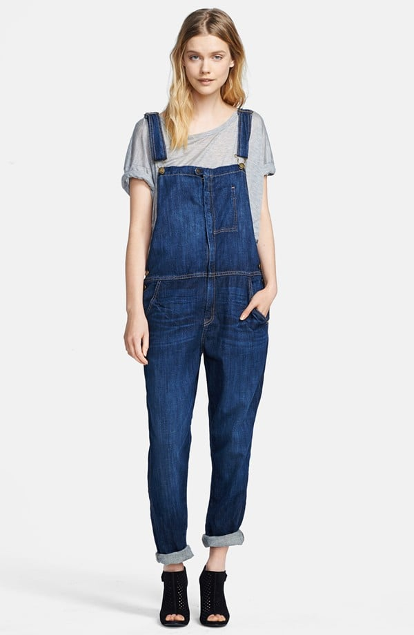 "Current/Elliott dark denim ""The Ranch Hand"" overalls ($348)"