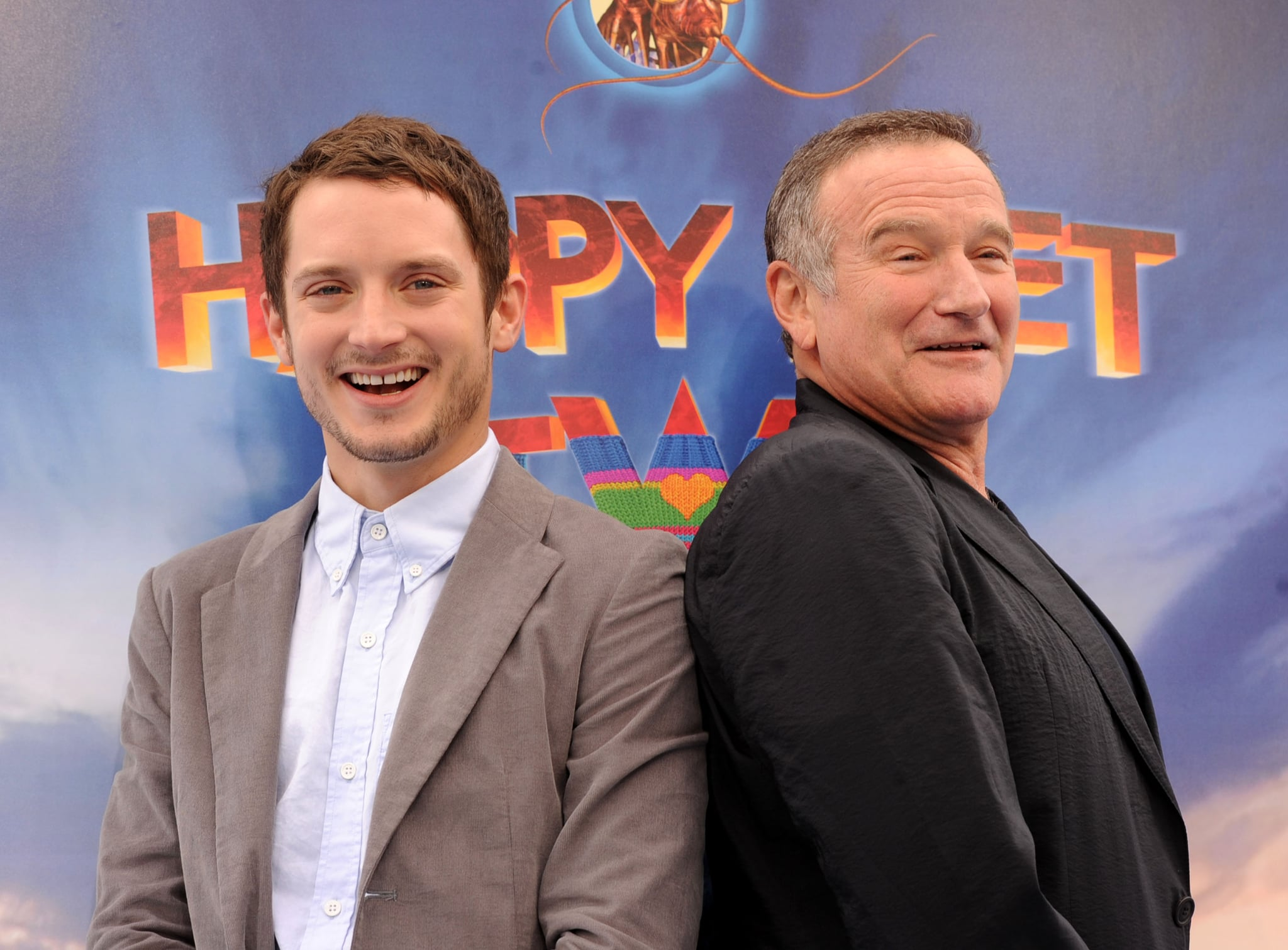 Elijah Wood and Robin Williams