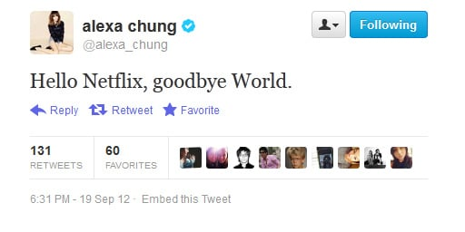 Alexa Chung discovers the wonders of instant movies.