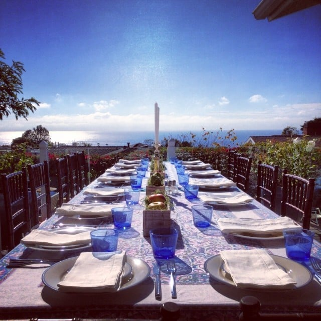 Lo Bosworth's outdoor dinner setup was to die for. Source: Instagram user lobosworth