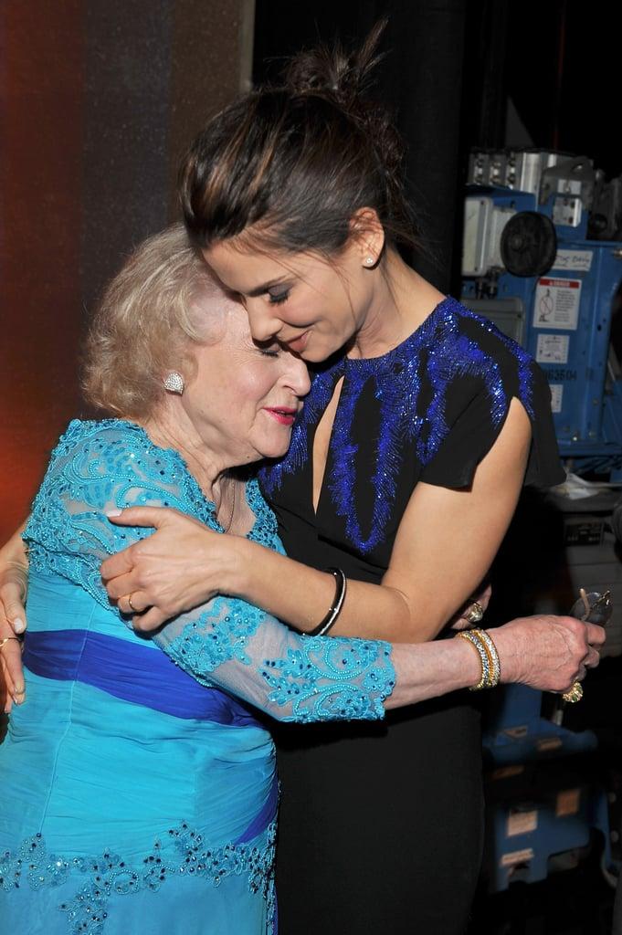 Sandra Bullock presented Betty White with a lifetime achievement award in 2010.