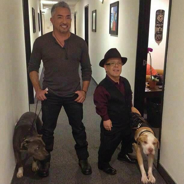 Cesar Millan and Gabriel Von Thienen shared their love for all things pit bull. Source: Twitter user ElPerro