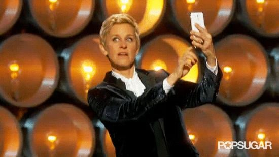 Ellen Took a Selfie on Stage and Used the #Blessed Hashtag