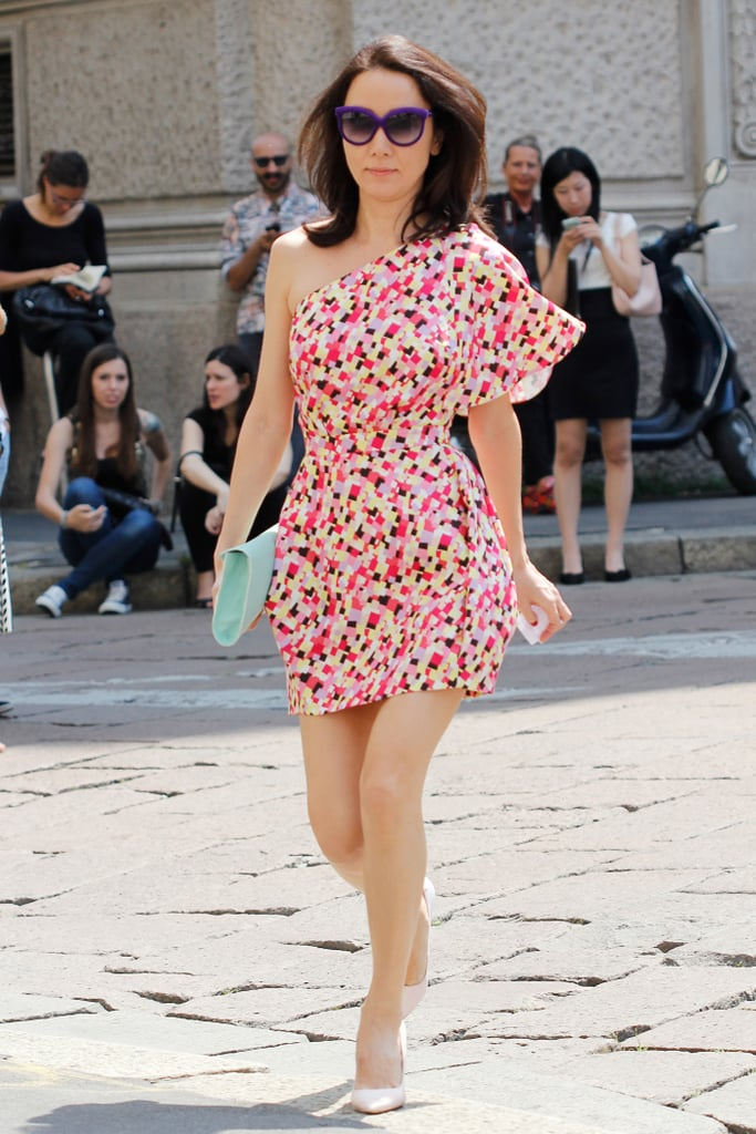 A pop of print and colour made this easy day dress a standout.