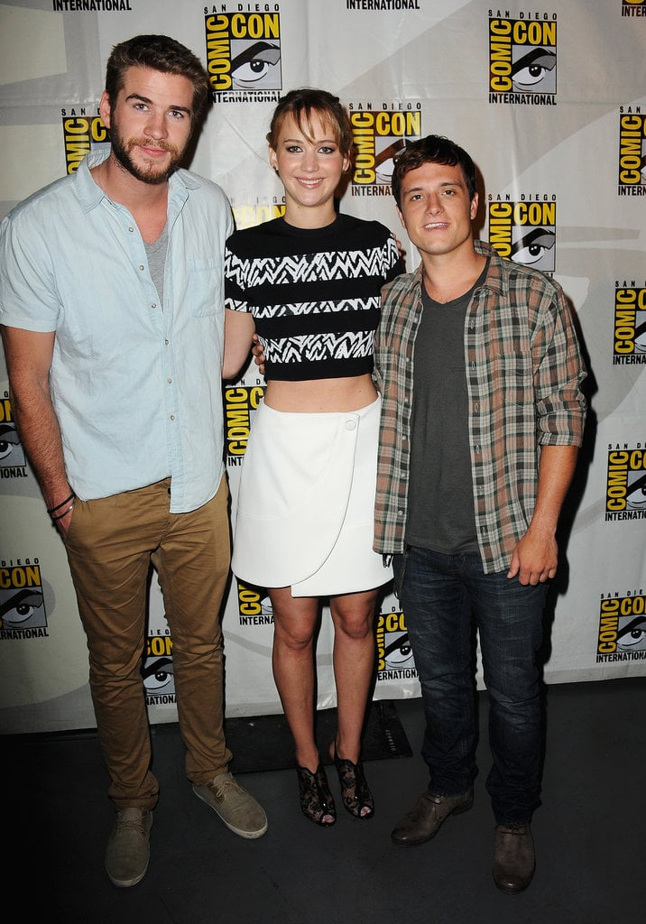 The stars reunite! The Hunger Games: Catching Fire actors Liam Hemsworth, Jennifer Lawrence and Jos Hutcherson stayed close at Comic-Con on July 20.
