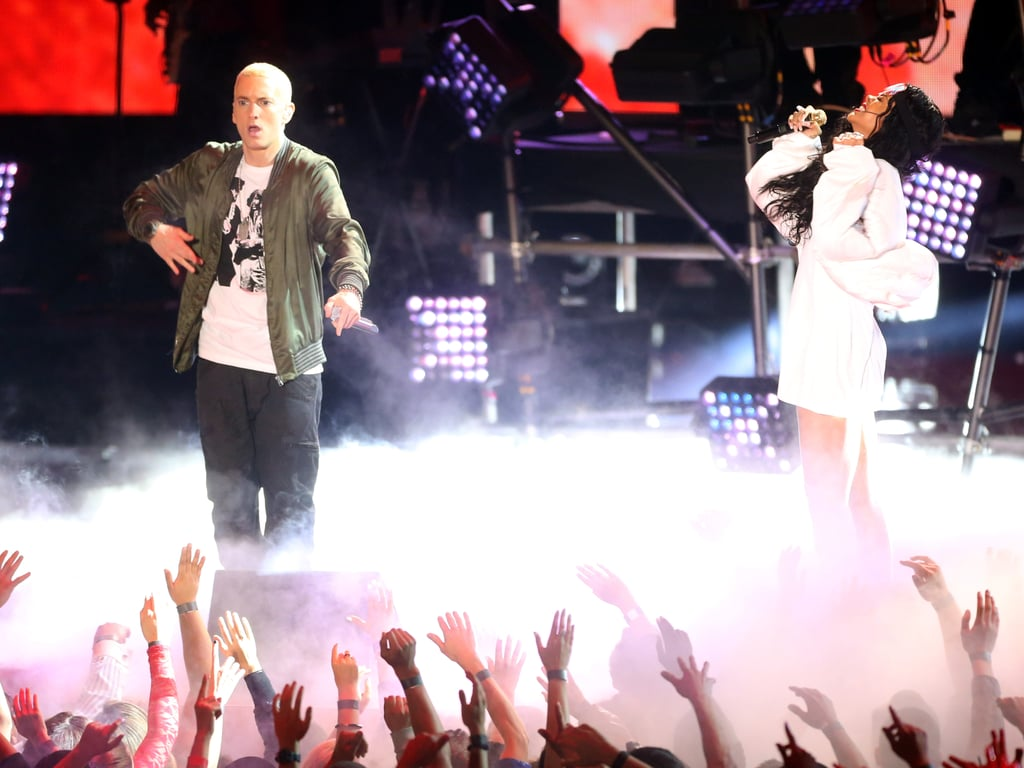 "Eminem and Rihanna heated up the stage with their performance of ""The Monster."""