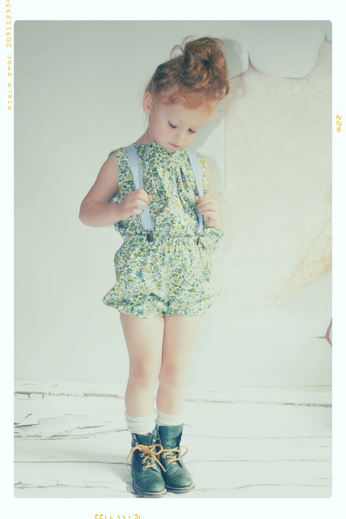 Mini Meadow Blouse and Spring Garden Shorts