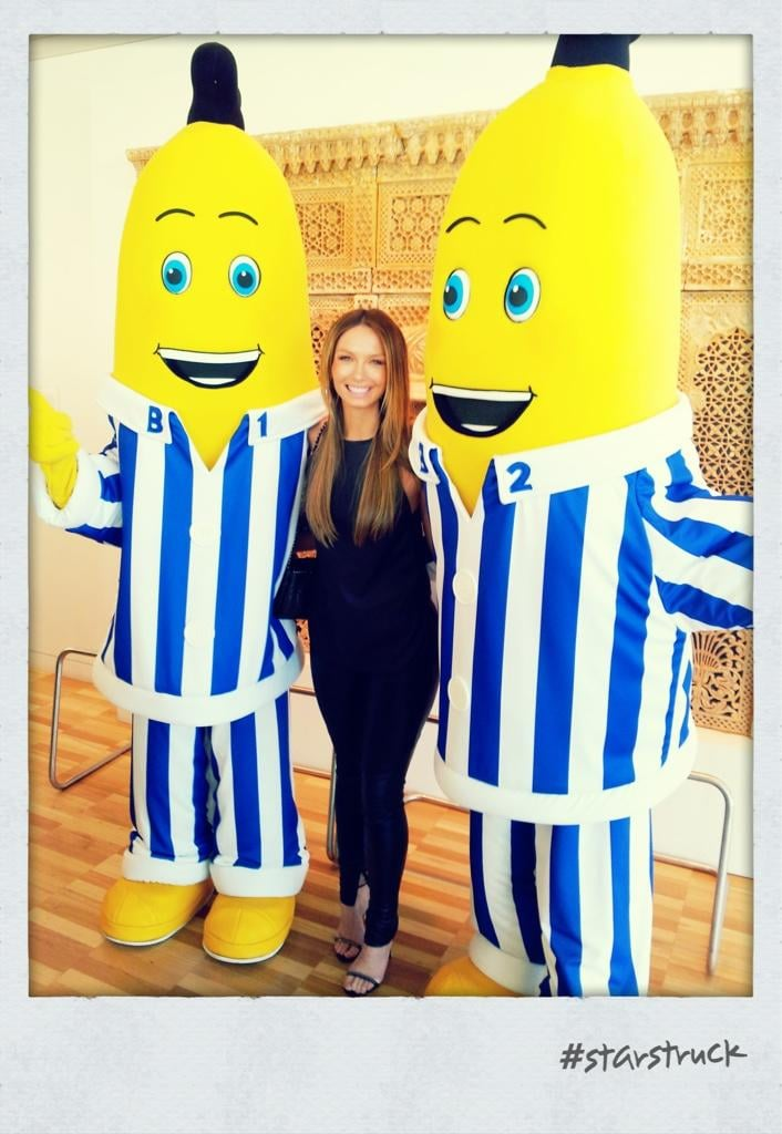 Ricki-Lee was excited to meet these Australian icons at the 2012 ARIA Awards nominations event. Source: Twitter user TheRickiLee