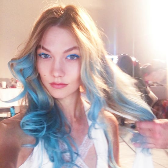 Karlie Kloss With Blue Hair | Spring 2016