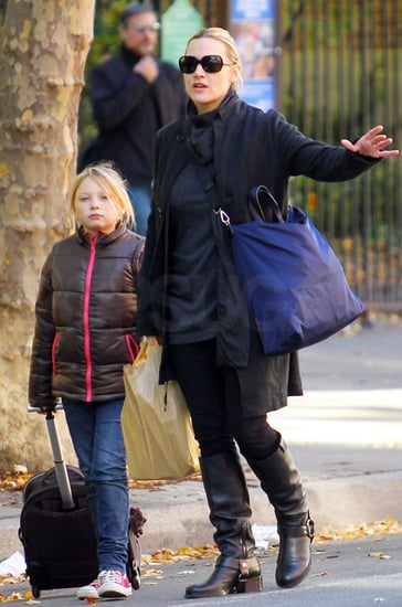 Pictures of Kate Winslet and Her Daughter Mia Hailing a Cab in NYC