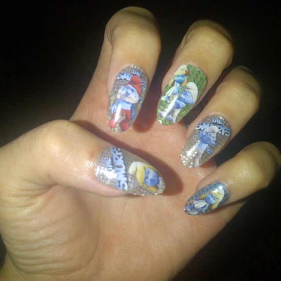 Katy Perry's Smurf Manicure