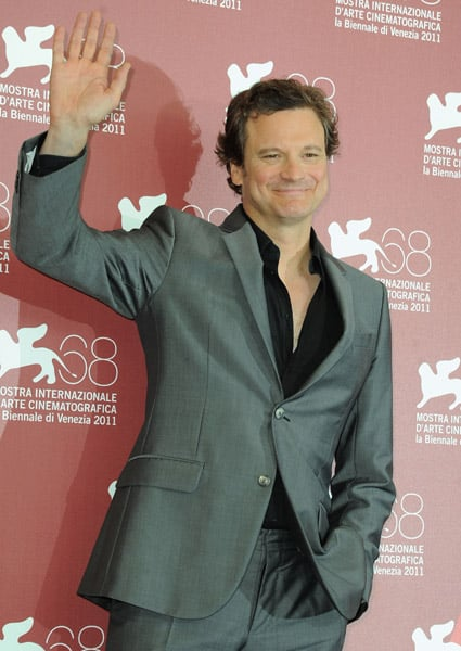 Colin Firth in Venice.